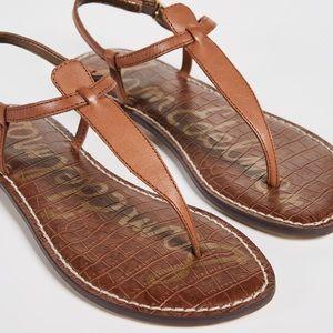 Sam Edelman cognac tan Gigi thong sandals